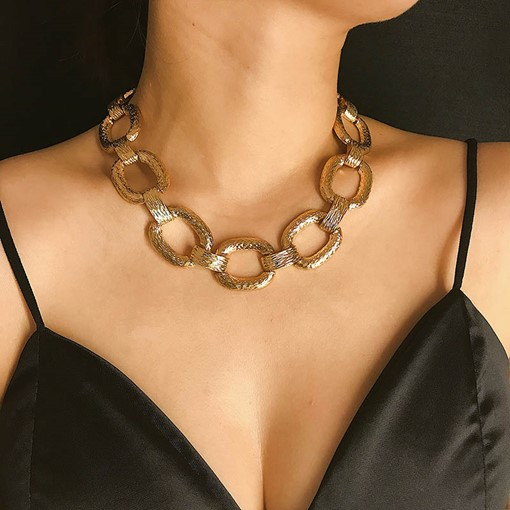 European Plain Choker Necklace Female Necklaces