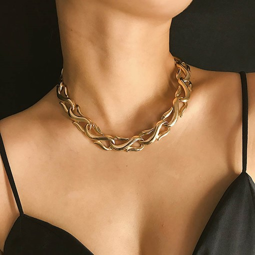 Plain Choker Necklace European Female Necklaces