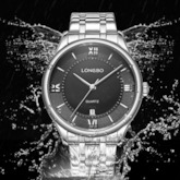 Quartz Water Resistant Stainless Steel Men's Watch