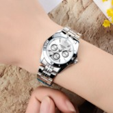 Concise Analog Display Quartz Water Resistant Lover's Watch