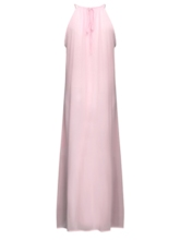 Sleeveless Round Neck Patchwork High Waist Women's Maxi Dress