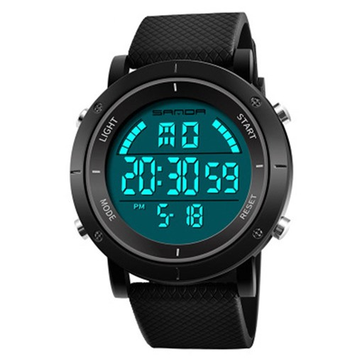 Digital Display Silicone Band Men's Watch