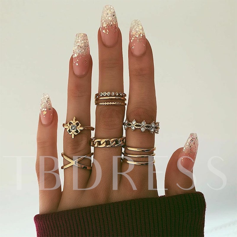 Alloy Diamante European Gift Rings
