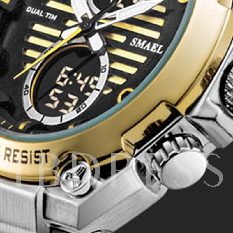 Analog-Digital Display Alarm Hardlex Men's Watch