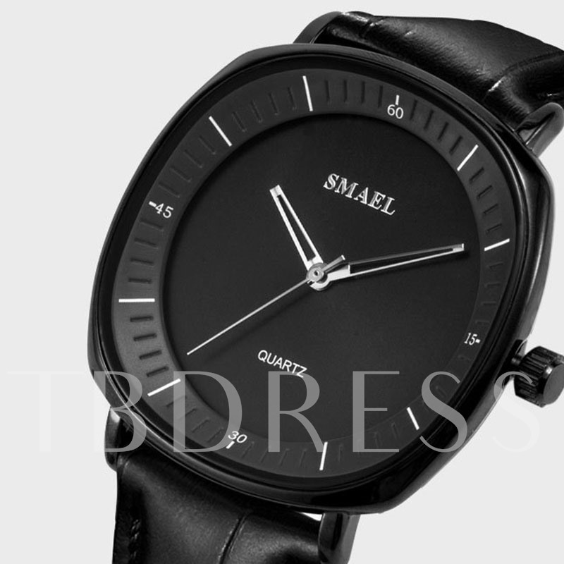 Analog Display Triangle Water Resistant PU Men's Watches