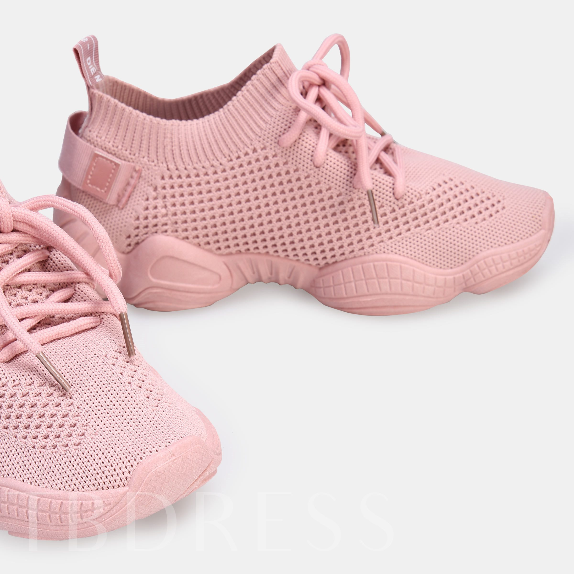 Lace-Up Low-Cut Upper Round Toe Casual Women's Sneakers