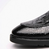 Slip-On Low-Cut Upper Embossed Leather Men's Dress Shoes