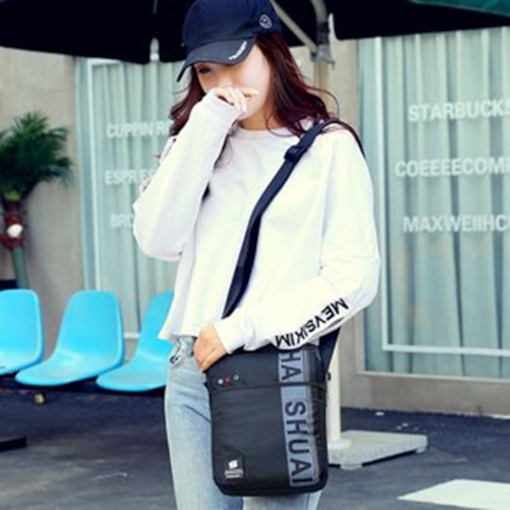 Thread Nylon Letter Rectangle Crossbody Bags