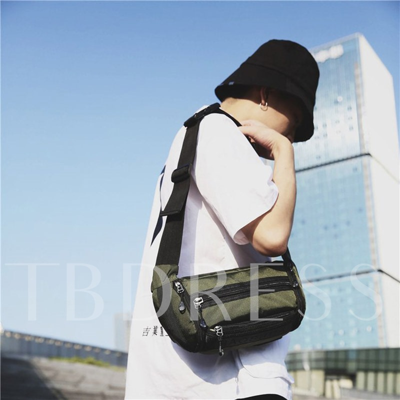 Letter Oxford Print Rectangle Crossbody Bags