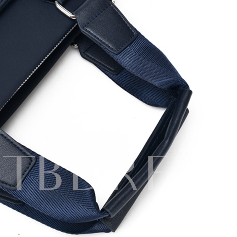 PU Thread Plain Rectangle Shoulder Men's Bags