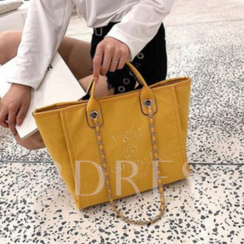 Canvas Chain Letter Tote Bags