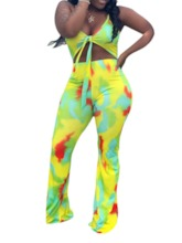 Western Color Block Print Full Length Slim Women's Jumpsuit