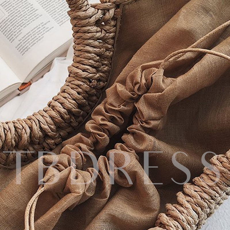 Summer Straw Knitted Tote Bags