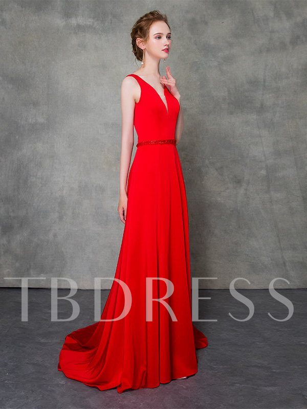 Trumpet Sleeveless Straps Court Train Evening Dress 2019