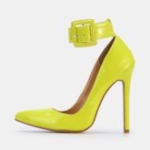 Stiletto Heel Pointed Toe Line-Style Buckle Womne's Pumps