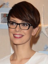 Pixie Cut Style Women's Straight Synthetic Hair Wigs Lace Front Wigs 10inch
