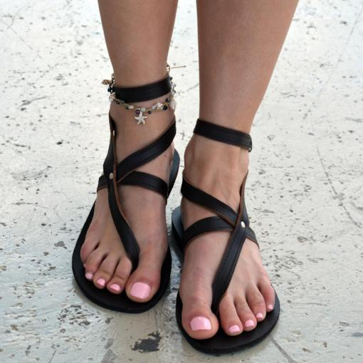 Flat With Thong Buckle Western Women's Sandals