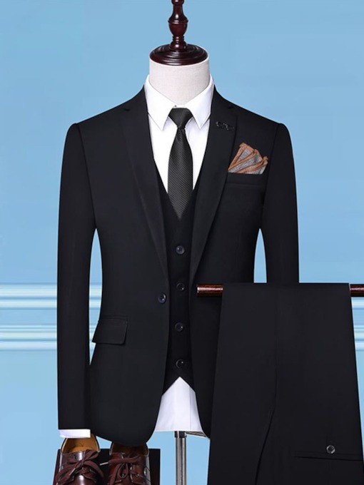 Fashion Custom Groom One Button Button Vest Formal Wear Wedding Men's Dress Suit