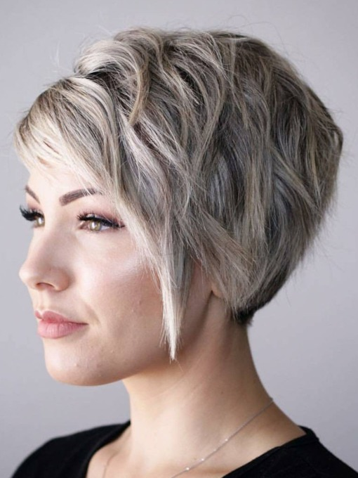 Women's Straight Short Pixie Cut Style Synthetic Hair Capless Wigs 10inch
