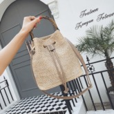 Grass Knitted Shoulder Bags