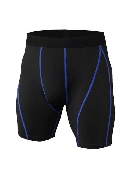 Men's Color Block Stripe Anti-Sweat Running Shorts