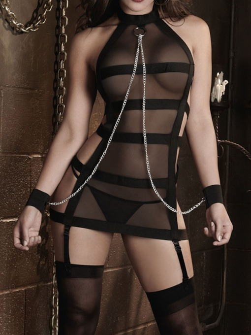 See-Through Backless Tight Wrap Sexy Chemise