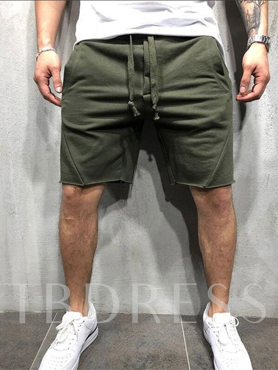 Men's Pockets Solid Casual Sports Shorts