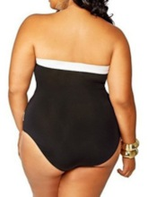 Plus Size Color Block Western One Piece Women's Swimwear