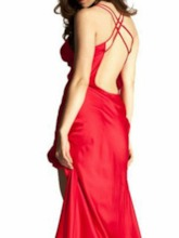 Backless Slit Up Patchwork Sexy Nightgown
