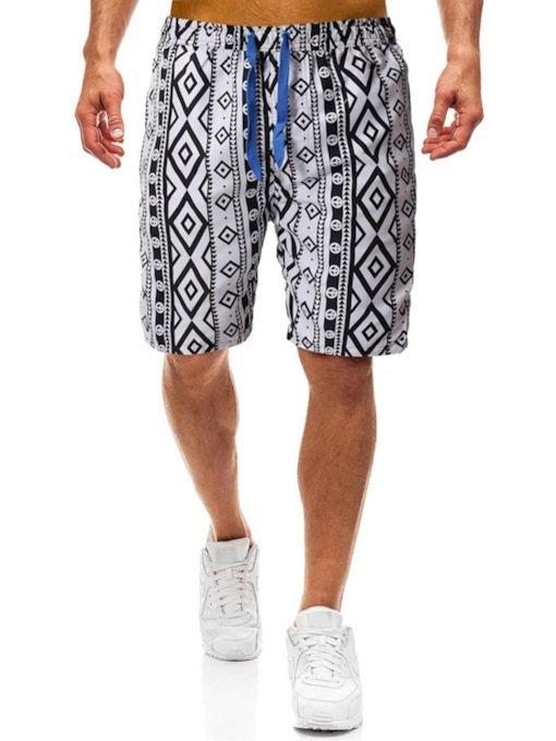 Print Straight Thin Geometric Casual Men's Casual Pants