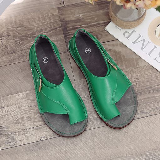 Toe Ring Slip-On Women's Flat Sandals