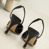 Slip-On Slingback Strap Closed Toe Stiletto Heel Women's Sandals