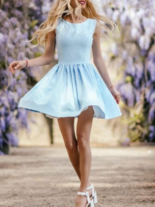 A-Line Scoop Pearl Short Cocktail Dress 2019