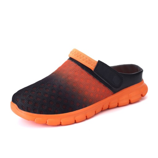 Simple Slip-On Color Block Round Toe Men's Casual Sandals
