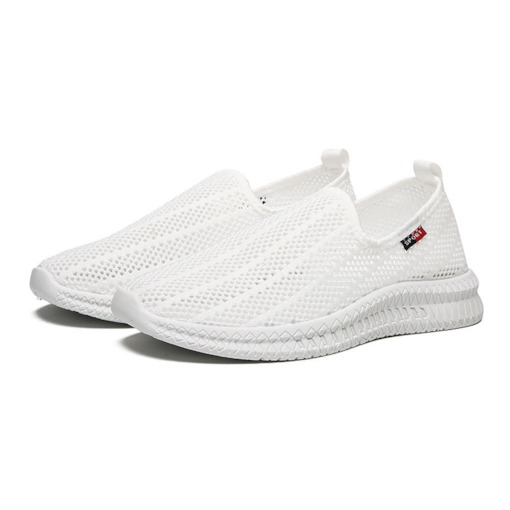Slip-On Korean Low-Cut Upper Mesh Men's Sneakers