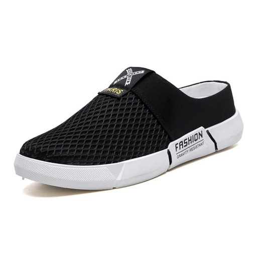 Low-Cut Upper Slip-On Letter Round Toe Men's Casual Shoes