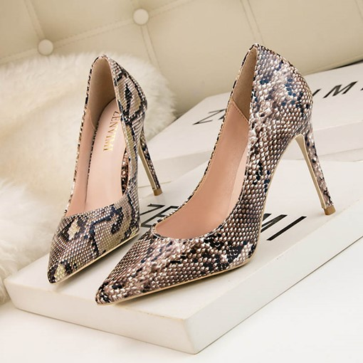 Stiletto Heel Serpentine Pointed Toe Women's Pumps