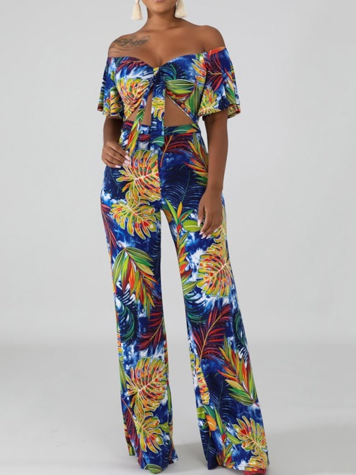Western Full Length Floral Print Slim Women's Jumpsuit
