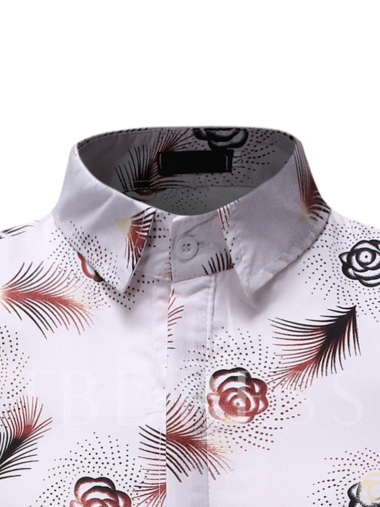 Men Hawaiian Short Sleeve Shirt Summer Floral Printed Beach Sea Men's Shirt