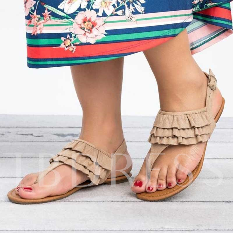 Thong Buckle Casual Women's Flat Sandals