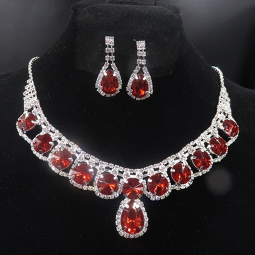 Earrings Necklace European E-Plating Wedding Jewelry Sets