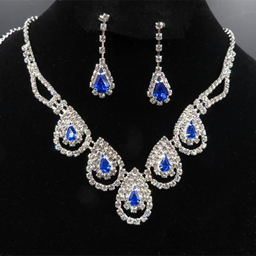 Earrings Water Drop Korean Jewelry Sets (Wedding)