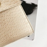 Alligator PU Lock Tote Boxy Bags