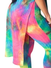 Color Block Gothic Style Pants Print Pencil Pants Women's Two Piece Sets