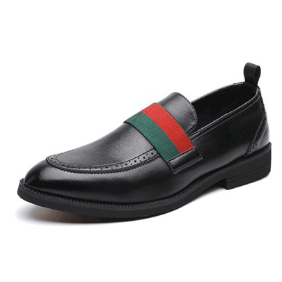 Color Block Slip-On Round Toe Mens Business Shoes Color Block Slip-On Round Toe Men's Business Shoes