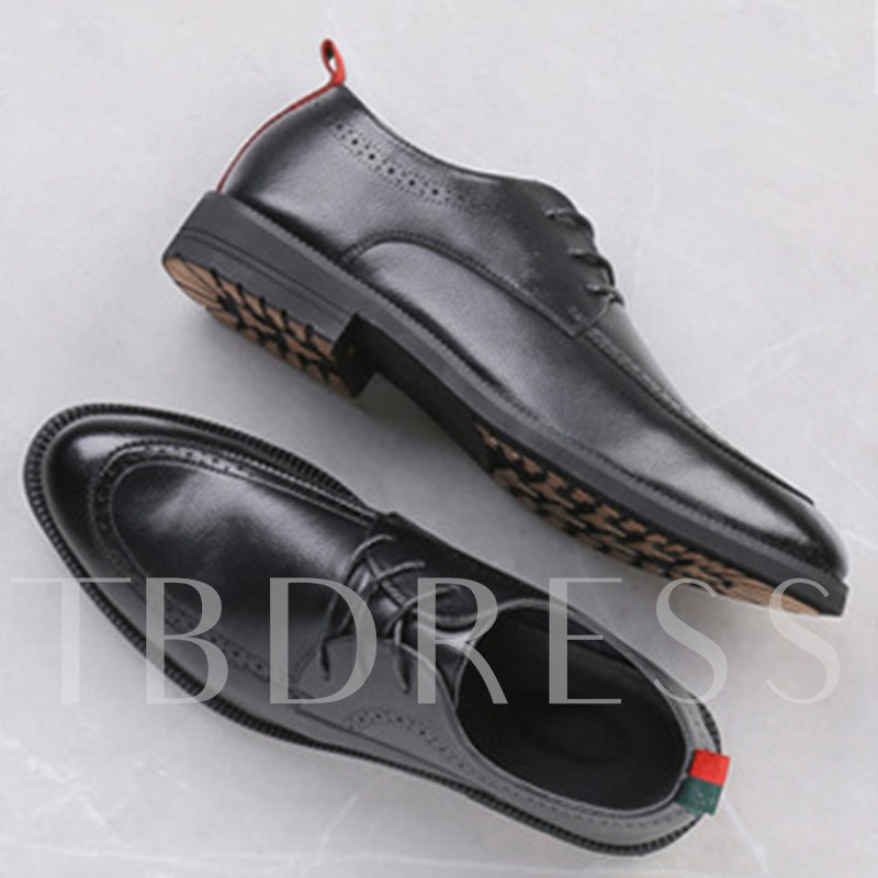 Slip-On Low-Cut Upper Round Toe Men's Business Shoes