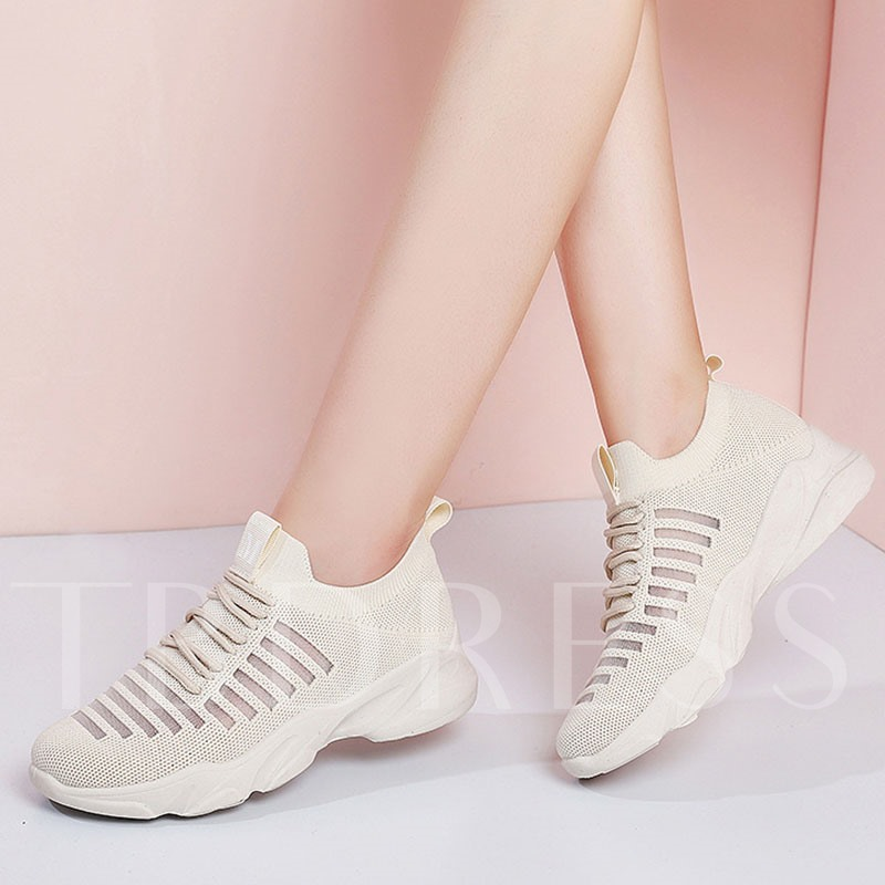Slip-On Round Toe See-Through Casual Women's Sneakers
