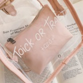 Thread Letter PU Tote Bags