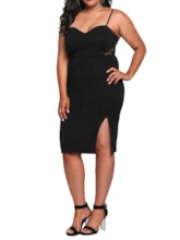 Plus Size Split Sleeveless Summer Women's Dress