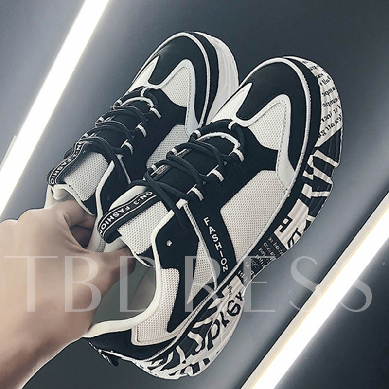 Lace-Up Sports Chunky Sneakers for Men